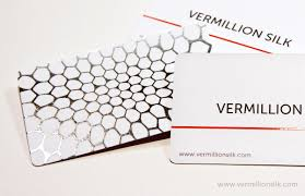 Stamped Business Card What Are Foil Stamped Business Cards Vermillion Silk