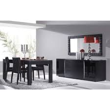 black gloss and silver leaf dining room set orla silver and black