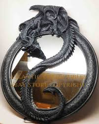 feng shui medieval chinese dragon yin yang large wall mirror 20