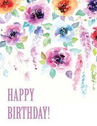 watercolor happy birthday card set u2013 paper on pine