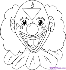 how to draw a clown step by step faces people free online