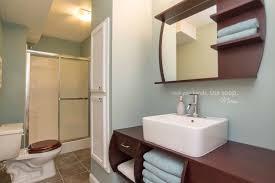 3 4 bathroom with complex granite tile floors u0026 flat panel