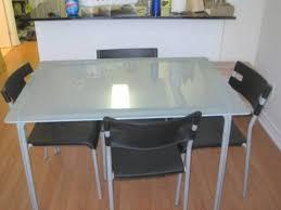 Bjursta Bar Table Glass Tables Ikea Torsby Table Chrome Platedglass White 135x85 Cm