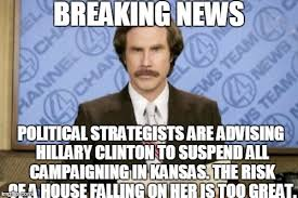 Breaking News Meme Generator - ron burgundy breaking news political strategists are advising