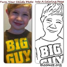 turn your childs photo into a coloring page bloomee org