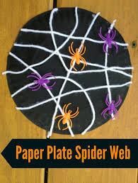 30 halloween projects for kids spider webs construction paper
