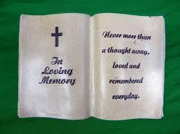 memorial book 8 25 resin in loving memory resin memorial book cemetery grave