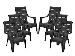 nilkamal kitchen furniture nilkamal sunday garden chair set of 6 black u2013 homegenic