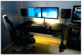 Corner Studio Desk Dual Monitor Desk Kgmcharters