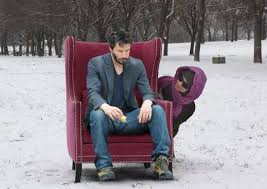 Keanu Reeves Meme Picture - chair sitting memes sad keanu reeves