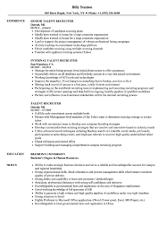 recruiter resume exles talent recruiter resume sles velvet