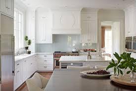 blue backsplash kitchen white kitchen with glossy blue backsplash transitional kitchen