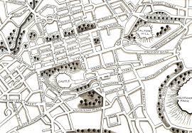 Edinburgh Map Helen Flook Illustrator