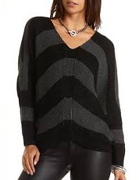 High Low Off The Shoulder Tunic Sweater Charlotte Russe