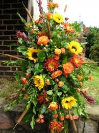 funeral spray seasonal fall standing spray funeral flowers in knoxville tn
