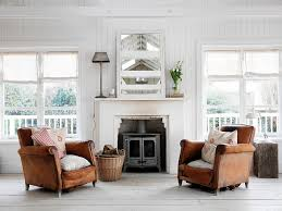 Distressed Leather Armchairs Large Leather Chesterfield Sofa Sits At The Heart Of Shabby Chic