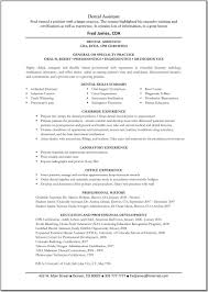 pediatric dental assistant resume dental assistant skills for resume free resume example and