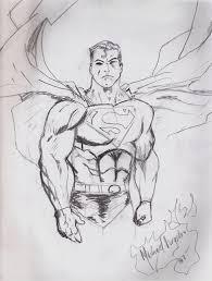 superman drawing mikeyv13 deviantart
