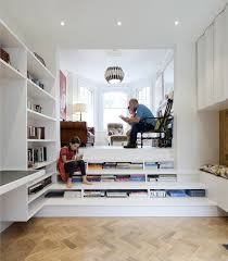 modern home library designs that know how to stand out private nook stairs library