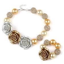 chunky necklace set images 2016 baby girls full chunky necklace brace set infant beads jpg