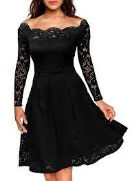 women u0027s off shoulder long sleeve a line lace party dress