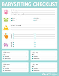 best 25 babysitter printable ideas on pinterest babysitter