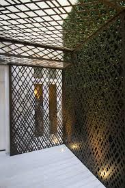 laser cut screens knightsbridge london courtyard pergola