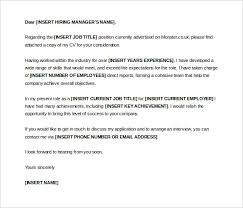 9 cover letter templates u2013 free sample example format download