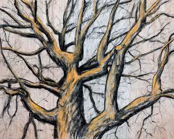 dead tree oak tree bark pencil and in color dead tree