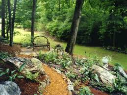rustic garden paths i love this garden roomthe lights and paths