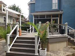 Drysnap Under Deck Rain Carrying System by Terrain Decking And Stairs With A Transcends Railing With Black