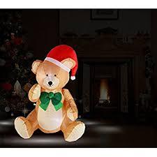 Polar Bear Christmas Lawn Decoration by Amazon Com Christmas Airblown Inflatable 8 Ft Tall Sitting Polar