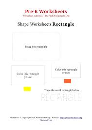 pre k rectangle shape activity worksheet pre k worksheets org