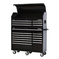 Tool Storage Cabinets Husky 52 In 18 Drawer Tool Chest And Rolling Tool Cabinet Set In