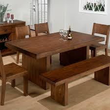 Stunning Dining Room Tables With Benches Ideas Home Design Ideas - Dining room chairs and benches