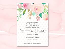 printable bridal shower invitations bridal shower invitation printable blush watercolor floral polka