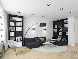 black and white living room furniture yellows wall add stone
