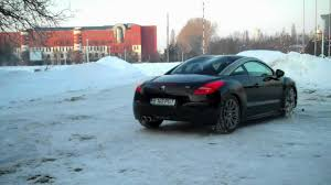 peugeot rcz 2012 peugeot rcz thp 2012 drift on snow youtube