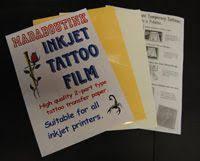 inkjet temporary tattoo paper