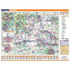 United States Wall Map Laminated by Wyoming Laminated State Wall Map