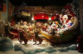 christmas stores extravagant christmas display window window during the