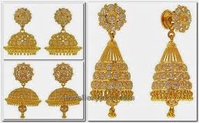 buttalu earrings gold and buttalu jumkis models jewellery designs