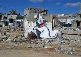 Banksy S Top 10 Most Creative And Controversial Nyc Works - banksy s first art project of 2015 was a trip to gaza twistedsifter