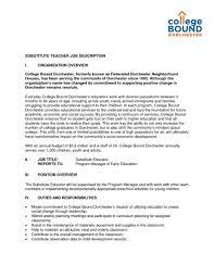 Sample Resume Cover Letter For Teacher Sample Substitute Teacher Cover Letter Image Collections Cover