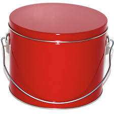 solid half gallon pail cookie tins allstate can corporation