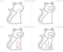 how to draw a cat for kids pencil art drawing