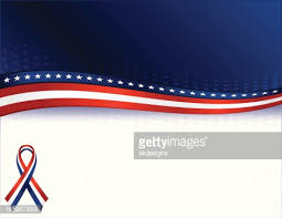 white blue ribbon shiny patriotic ribbon banner white and blue vector