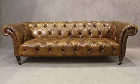Leather Chesterfield Sofa Leather Chesterfield Sofa In Antiqued Tan Leather A Classic Design