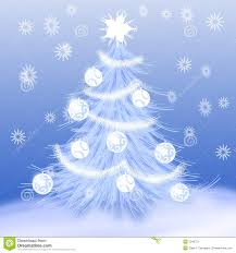 tree snow stock vector image of decoration 7043721