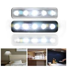 stick on kitchen lights 5x bright battery operated bulb stick on push on strip lights